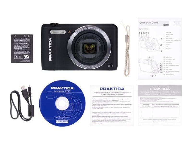 PRAKTICA Luxmedia Z212 Camera Black 20MP 12xZoom 64MB Internal Memory