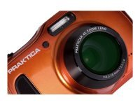 PRAKTICA Luxmedia WP240 Waterproof Camera Orange 20MP 4xZoom 64MB Internal Mem