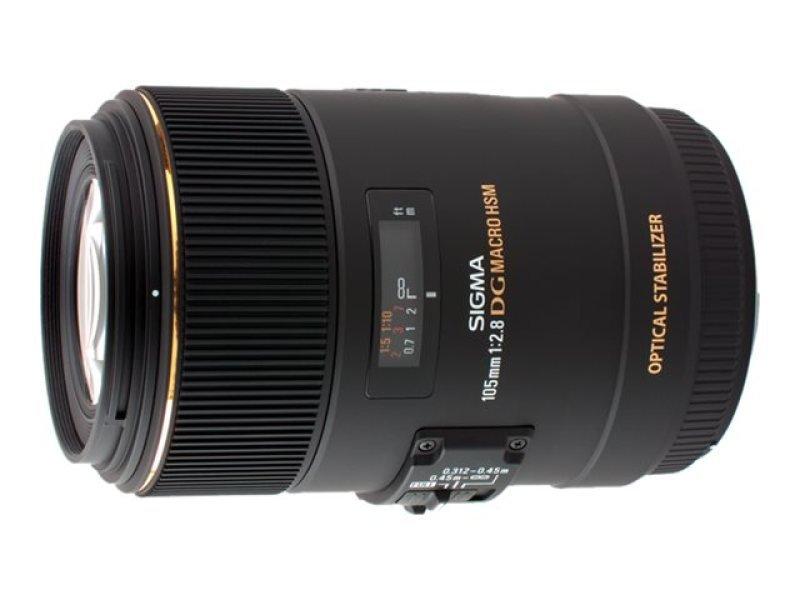 Image of Sigma 105mm f/2.8 EX Macro DG HSM Optical Stabilised Lens Nikon D Fit