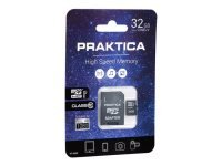 PRAKTICA 32GB Class 10 MicroSD Memory Card inc SD Adapter WP240 Z212