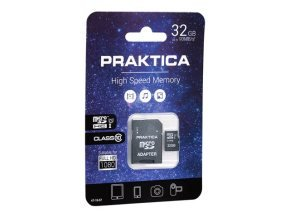 PRAKTICA 32GB Class 10 MicroSD Memory Card inc SD Adapter WP240 Z212