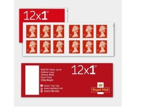 Royal Mail 1st Class Postage Stamps - 12 Pack
