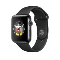 Apple Watch Series 2 - 38 Mm - Stainless Steel - Smart Watch With Sport Band - Fluoroelastomer - Black - S/m/l Size - Wi-fi, Bluetooth - 41.9 G - Space Black