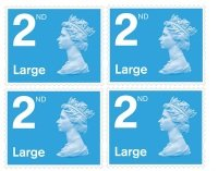 Royal Mail 2nd Class Large Postage Stamps - 4 Pack