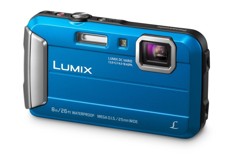 Panasonic DMC-FT30 Tough Camera Blue 16.1MP 4xZoom 2.7LCD 720pHD 25mm Wtprf