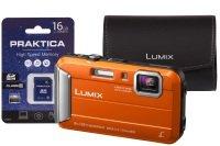 Panasonic DMC-FT30 Tough Orange Camera Kit inc 16GB SD Card & Case