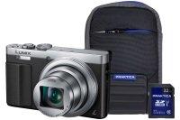 Panasonic DMC-TZ70 Silver Camera Kit inc 32GB Class 10 SDHC Card & Case