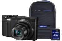 Panasonic DMC-TZ70 Black Camera Kit inc 32GB Class 10 SDHC Card & Case
