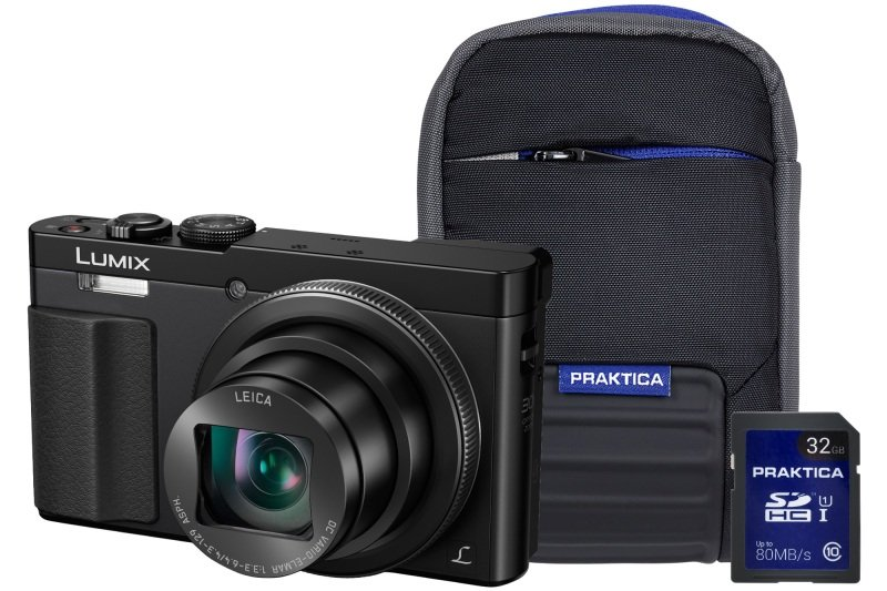 Panasonic DMC-TZ70 Black Camera Kit inc 32GB Class 10 SDHC Card & Case