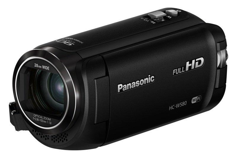 Panasonic HC-W580 Camcorder Black FHD 2.51MP 50xZoom 3.0LCD WiFi SD/SDHC/SDXC