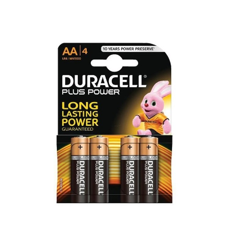Aa Duracell Batteries Pk4