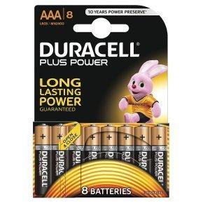 AAA Duracell Batteries Pk8