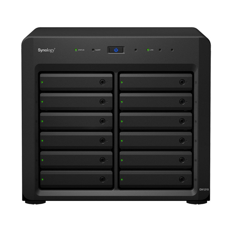 Synology DX1215 48TB (12 x 4TB WD RED PRO) 12 Bay Expansion