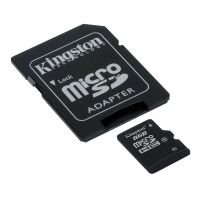 Kingston 8GB Class 10 MicroSDHC Card with Full Size Adapter