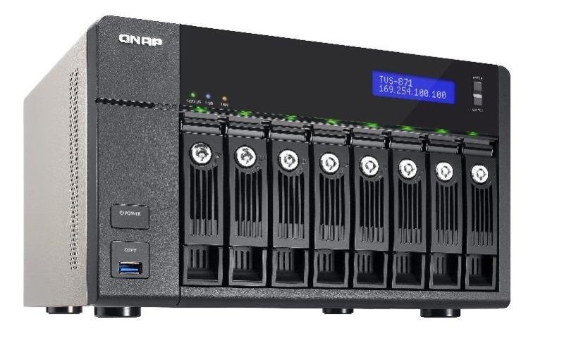 QNAP TVS-871-I3-4G 64TB (8 x 8TB SGT-IW PRO) 8 Bay NAS with 4GB RAM