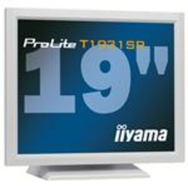 Iiyama T1931SR LCD Touchscreen 19&quot DVI Monitor   White