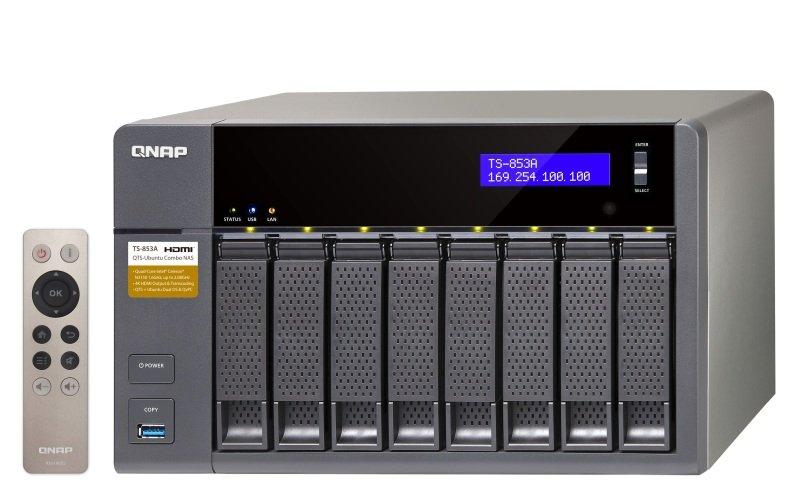 QNAP TS-853A-8G 64TB (8 x 8TB WD RED PRO) 8 Bay NAS Unit with 8GB RAM