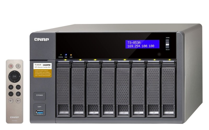 QNAP TS-853A-4G 64TB (8 x 8TB WD RED PRO) 8 Bay NAS Unit with 4GB RAM
