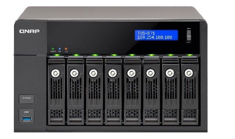 QNAP TVS-871-I5-8G 64TB (8 x 8TB SGT-IW PRO) 8 Bay NAS with 8GB RAM