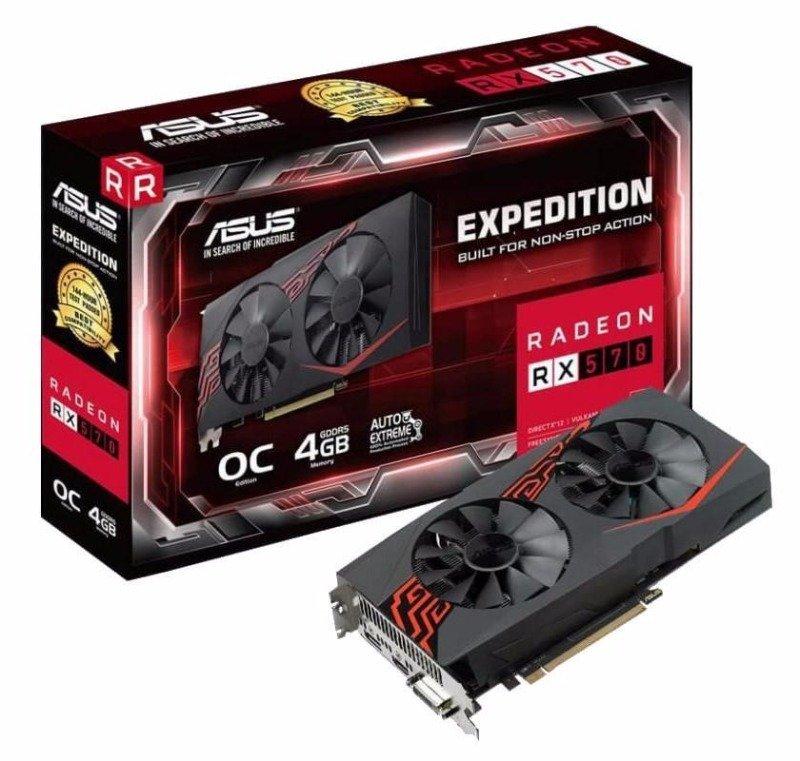 Asus Expedition Radeon RX 570 OC Edition 4GB Graphics Card
