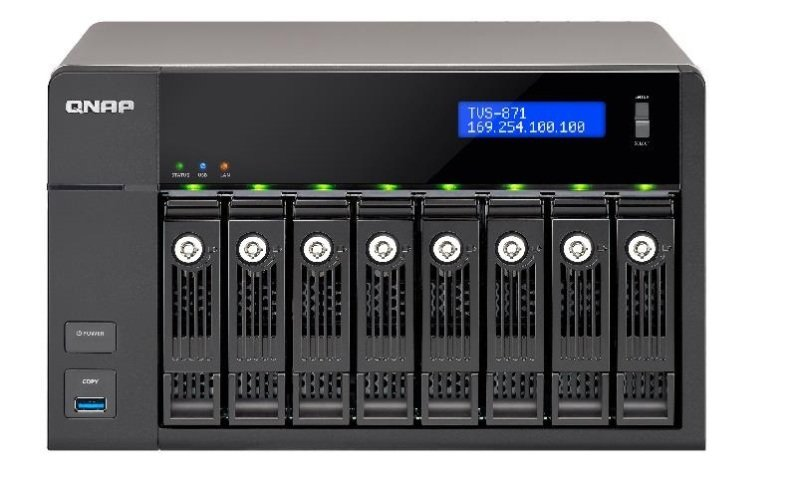 QNAP TVS-871-I7-16G 64TB (8 x 8TB SGT-IW) 8 Bay NAS with 16GB RAM