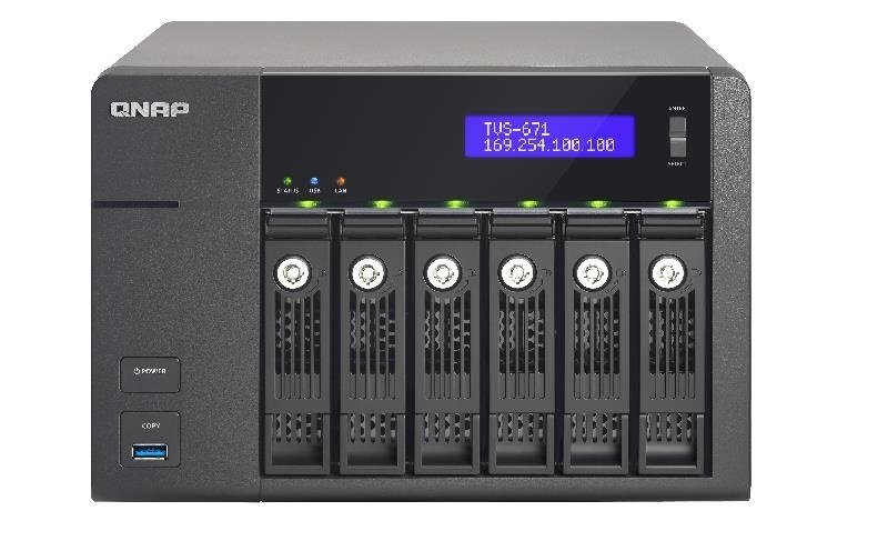 QNAP TVS-671-I3-4G 36TB (6 x 6TB SGT-IW) 6 Bay NAS with 4GB RAM