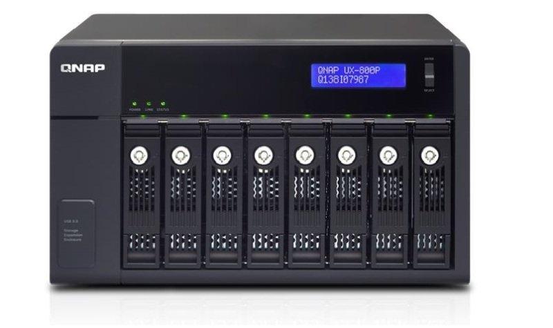 QNAP UX-800P 64TB (8 x 8TB SGT-IW PRO) 8 Bay NAS Expansion Unit