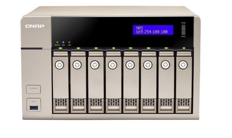QNAP TVS-863+-16G 64TB (8 x 8TB SGT-IW PRO) 8 Bay NAS with 16GB RAM