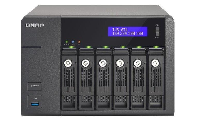 QNAP TVS-671-I3-4G 48TB (6 x 8TB SGT-IW) 6 Bay NAS with 4GB RAM