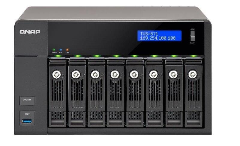 QNAP TVS-871-I7-16G 80TB (8 x 10TB SGT-IW PRO) 8 Bay NAS with 16GB RAM