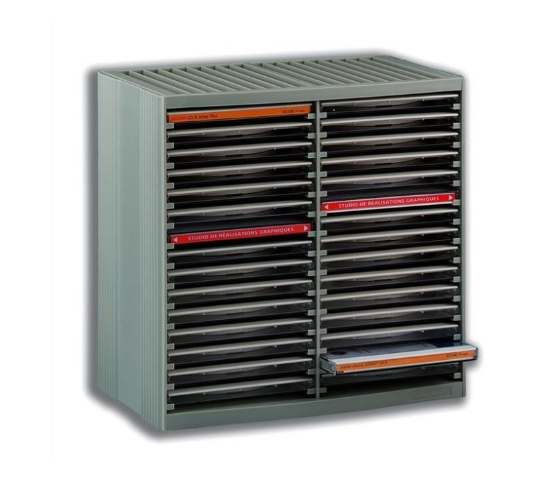 Fellowes CD Spring Storage CD cabinet For 30 Disks