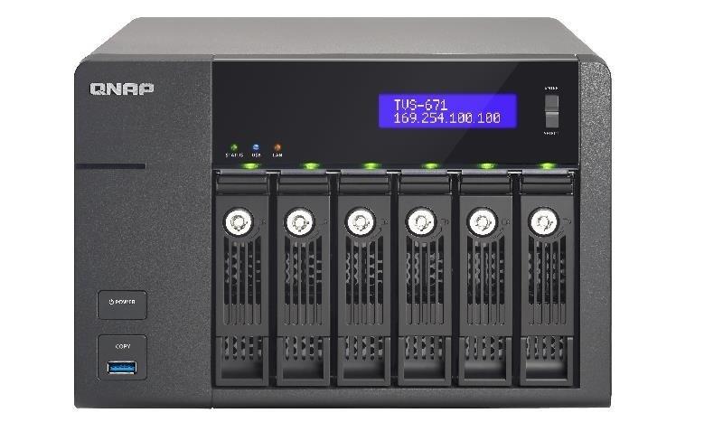 QNAP TVS-671-I3-4G 60TB (6 x 10TB SGT-IW PRO) 6 Bay NAS with 4GB RAM