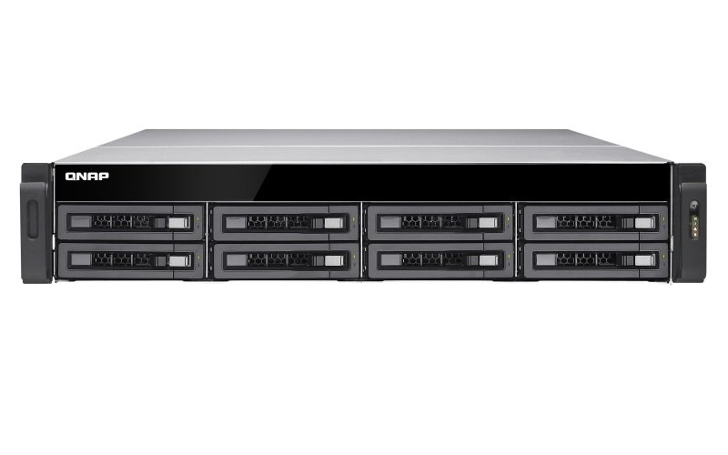 QNAP TS-EC880U-E3-4GE-R2 64TB (8 x 8TB WD RED PRO) 8 Bay 2U Rack with 4GB RAM