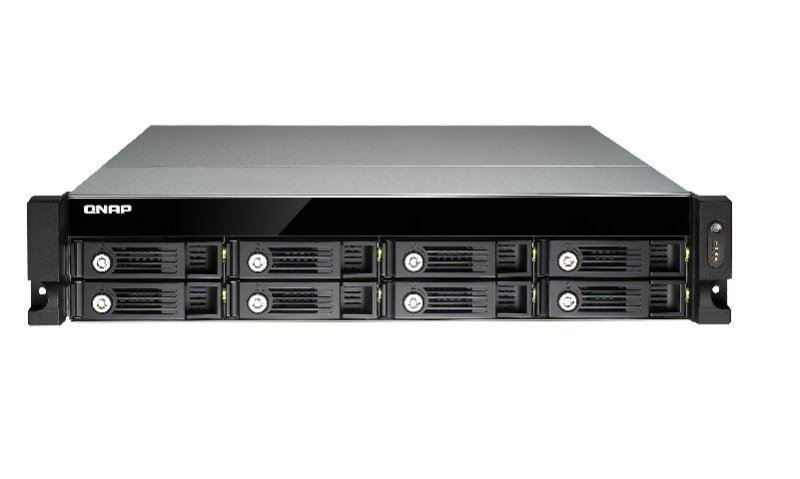 QNAP TVS-871U-RP-I3-4G 64TB (8x8TB WD RED PRO) 8 Bay 2U Rack with 4GB RAM