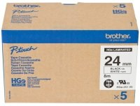 Brother P-Touch Multipack 24mm black on white laminated