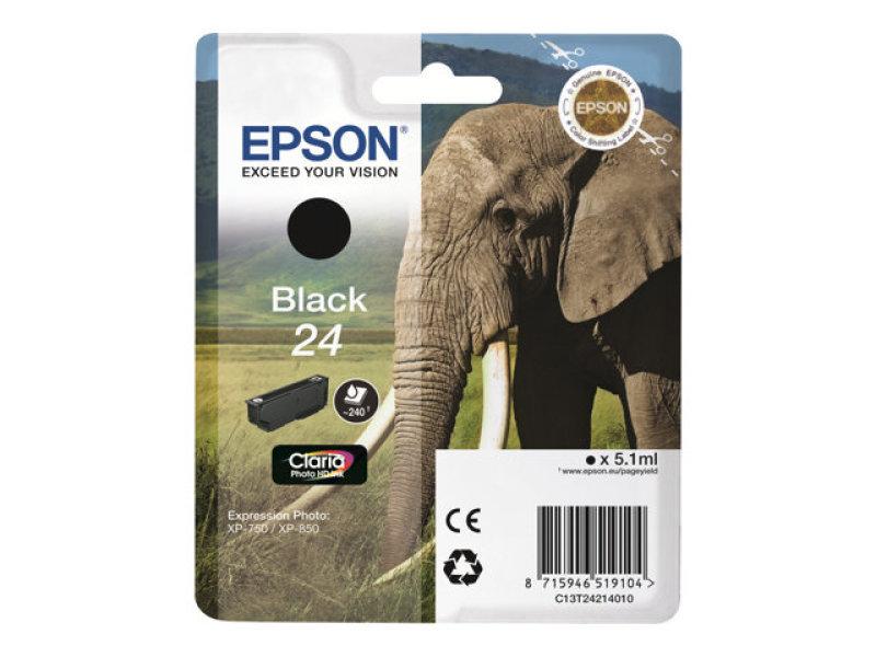 *Epson 24 Black Ink Cartridge- Blister pack
