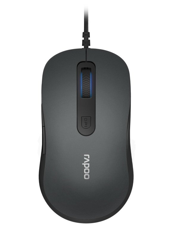 Rapoo N3610 Wired Optical Mouse Grey