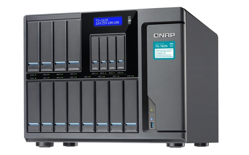 QNAP TS-1635-4G 72TB (12 x 6TB WD RED PRO) 16 Bay NAS with 4GB RAM