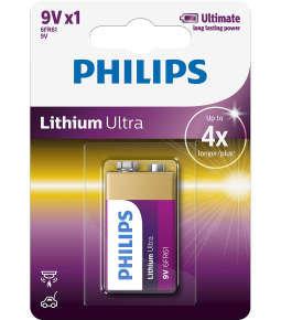 Philips Ultra Lithium 9v Battery - Pack of 1