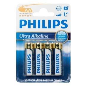 Philips Ultra Alkaline AA Batteries 4 Pack