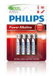 Philips Power Alkaline AAA LR03 Battery - Pack of 4