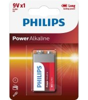 Philips Power Alkaline 9v Battery - Pack of 1