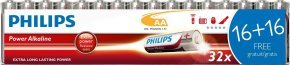 Philips AA Batteries 32 Pack (16 + 16 FREE)