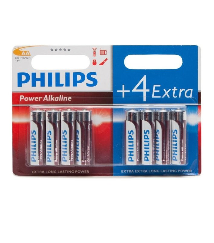 Philips AAA Batteries 8 Pack 4+4PK