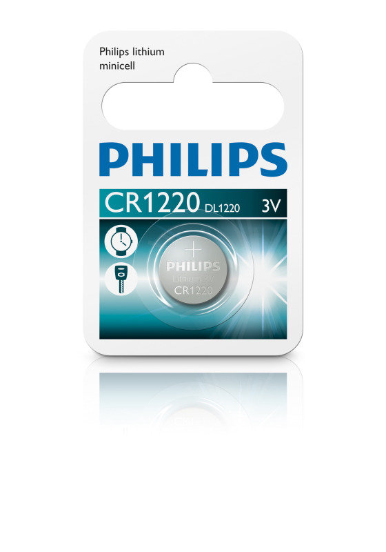 Philips Lithium Coin CR1220 Pack of 1