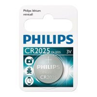 Philips Lihtium Coin CR2025 Battery - Pack of 1