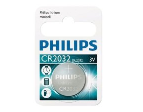 Philips Lithium Coin CR2032 Pack of 1