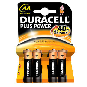 Duracell Plus Power Alkailine AA 4 Pack