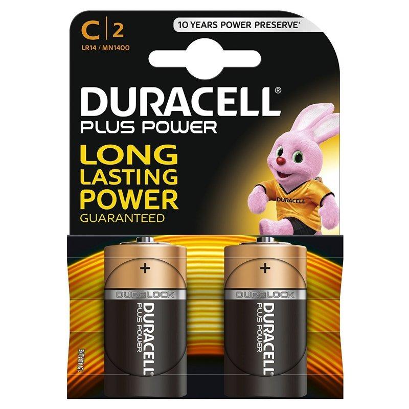 Duracell Plus MN1400 - Battery 2 x C type Alkaline