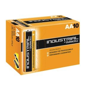 Duracell AA Industrial Alkaline Battery Pack of 10